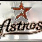LP-635 Houston Astros Premium Chrome License Plate