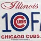 LP-645 Cubs #1 Fan License Plate