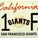 LP-649 Giants #1 Fan License Plate