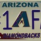 LP-650 Diamondbacks #1 Fan License Plate