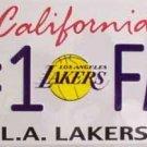 LP-680 Lakers #1 Fan License Plate