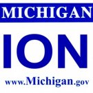 LP-2047 Michigan State Background License Plates - Lions
