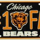 LP-712 Bears #1 Fan License Plate