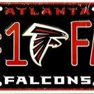 LP-728 Falcons #1 Fan License Plate