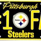 LP-734 Pittsburgh Steelers #1 Fan License Plate