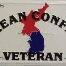 LP-120 Korean War Veteran License Plate