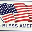 LP-140 God Bless America License Plate -WHITE