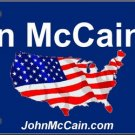 LP-2021 John McCain Presidential Election USA 2008 License Plate