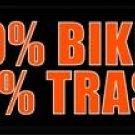 LP-1242 49% Biker 51% Trash License Plate