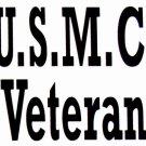 "DEC-084M USMC Veteran Vinyl Decal Graphic - approx 6"""