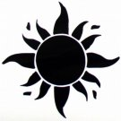 "DEC-082S Sun Vinyl Decal Graphic - approx 4"""