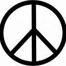 DEC-077L Peace Sign Vinyl Decal Graphic - approx 8""