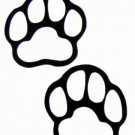 """DEC-076S Paw Prints Vinyl Decal Graphic - approx 4"""""""