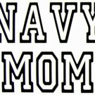 DEC-072S NAVY MOM Vinyl Decal Graphic - approx 4""