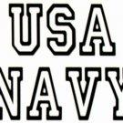 "DEC-070S NAVY Vinyl Decal Graphic - approx 4"""