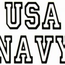 DEC-070M NAVY Vinyl Decal Graphic - approx 6""