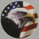 "DEC-104 American Flag and Eagle Full Color 6"" Vinyl Decal Graphic"