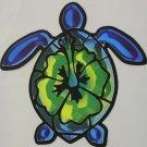 """DEC-087 Ocean Sea Turtle Full Color 6"""" Vinyl Decal Graphic"""