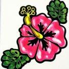 """DEC-086 Hibiscus Flower Full Color 6"""" Vinyl Decal Graphic"""