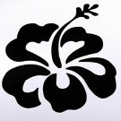 DEC-060M Hibiscus Flower Vinyl Decal Graphic - approx 6""