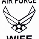 """DEC-051L AIR FORCE WIFE Vinyl Decal Graphic - approx 8"""""""