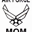"""DEC-050M AIR FORCE MOM Vinyl Decal Graphic - approx 6"""""""