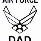 """DEC-049L AIR FORCE DAD Vinyl Decal Graphic - approx 8"""""""