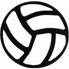 """DEC-046L Volley Ball Vinyl Decal Graphic - approx 8"""""""