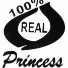 DEC-032S 100% Real Princess Vinyl Decal Graphic - approx 4""