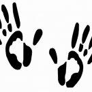 "DEC-020L Hand Prints Vinyl Decal Graphic - approx 8"""