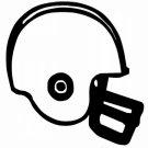 "DEC-015S Football Helmet Vinyl Decal Graphic - approx 4"""