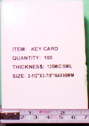 Thermal laminates key card size 2 1/2 x 3 7/8 inches