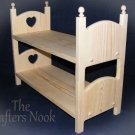 Heart Stackable Bunk Bed two American Girl Doll Beds