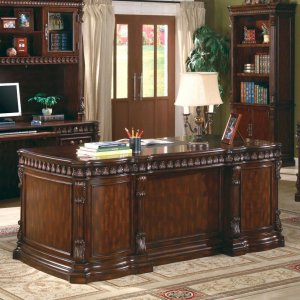 Union Hill Traditional Double Pedestal Desk