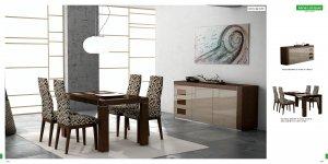 Irene-Ada Modern 5pc Dining Room Set in Glossy Finish ESF