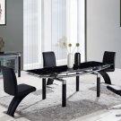 Global Furniture 5pc Dining Room Set GL-D88DT-BL