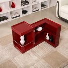 P205B Red Gloss End Table/ Mini Bar