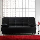 Vegas Black Microfiber Sofa Bed with Storage
