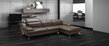 Karin Brown Leather Sectional Sofa