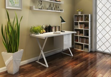 Modern Office Desk with Floating Drawer