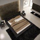 998 Black Leatherette Modern Queen Platform Bed