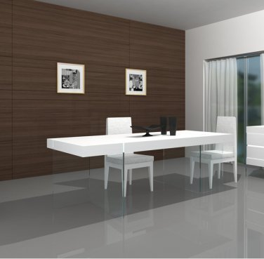 Ice Modern Dining Table in White Gloss Finish