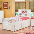 Atlantic Furniture Captain's Twin Bed in White