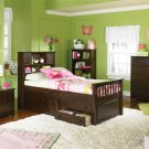 Atlantic Furniture Captain's Twin Bed in Antique Walnut