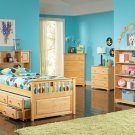 Atlantic Captain's Twin Bed with Trundle in Natural Maple