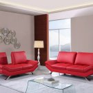UFM151-R 2pc Red Bonded Leather Living Room Set
