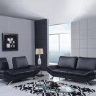 UFM151 2pc Black Bonded Leather Living Room Set