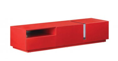 TV027 Red High Gloss TV Stand by J&M Furniture