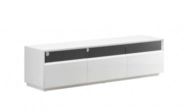 TV023 White Gloss TV Stand by J&M Furniture