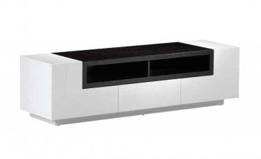 TV002 White Gloss Dark Oak TV Stand by J&M Furniture